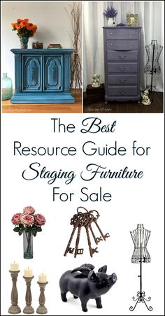 Whether you sell painted furniture or love home decor this resource guide to staging furniture for sale has you covered.