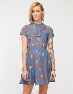 Dusen Dusen / Box Swing Dress in Amoeba