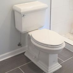 How to install a toilet... and I love the floor tile