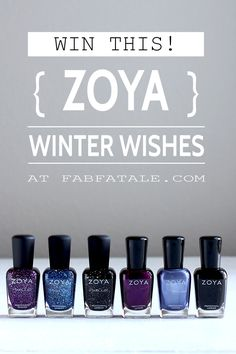 i'm giving away the Zoya Winter Wishes nail polish collection at http://www.fabfatale.com/2015/01/zoya-winter-wishes/ #zoya #zoyawishes
