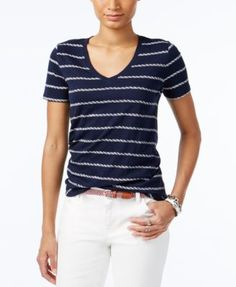 Tommy Hilfiger Striped T-Shirt, Core Navy