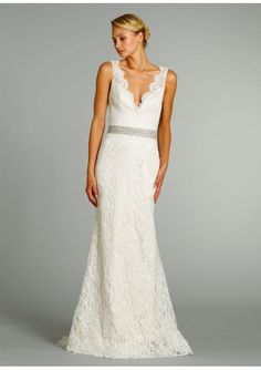 #Wedding #dress … sheath, column or fitted  ♥ https://itunes.apple.com/us/app/the-gold-wedding-planner/id498112599?ls=1=8 'How to plan a wedding' iPhone App ... Your Complete Wedding Ceremony & Reception Guide  ♥ http://pinterest.com/groomsandbrides/boards/ for more magical wedding ideas ♥  pinned with love.