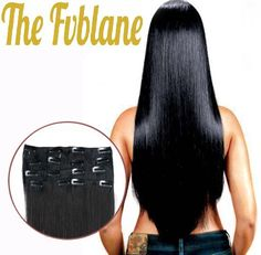 Straight Black Clip-In Hair Extensions thefvblane.com