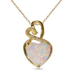 Ebay NissoniJewelry presents - Diamond Accent Pendant w/ Created Opal 10k Y/Gold    Model Number:PV4531A-Y077COP    http://www.ebay.com/itm/Diamond-Accent-Pendant-w-Created-Opal-10k-Y-Gold-/222062114952