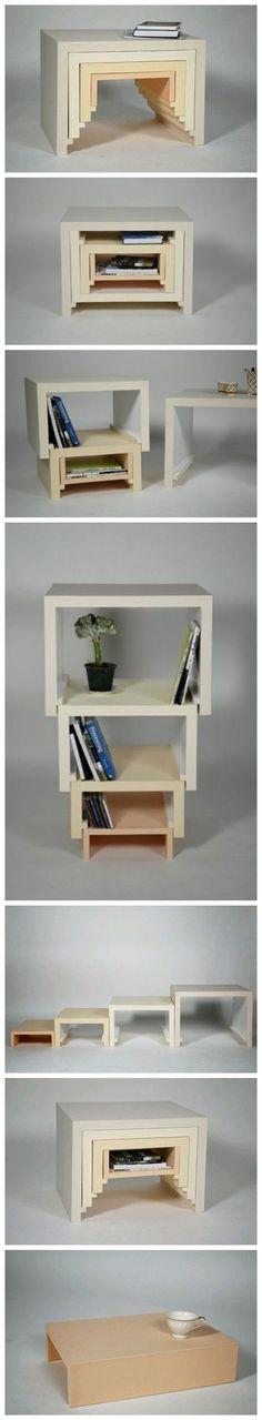 De esta manera, grandes y pequeños, el diseño de muebles apilados ver estado de…