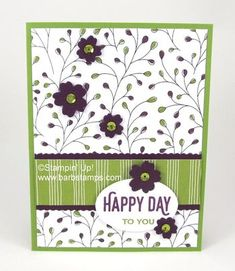 Loving the Wildflower Fields Designer Series Paper! - Barbstamps!! Barb Mullikin Stampin' Up! Demonstrator