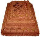 Three Step Chocolate Cake to Hyderabad delivery. Fast home delivery to Hyderabad.  Available at : www.flowersgiftshyderabad.com/Cakes-to-Hyderabad.php