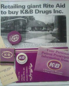 "My mom used to work for K&B when I was a baby.  So sad.  That's where the saying ""K&B Purple"" comes from"