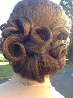 1950's hairstyle, leavers dinner hair :D