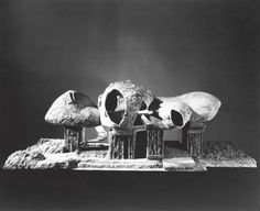 Frederick Kiesler (1890–1965), exterior view of the Endless House model, 1958.