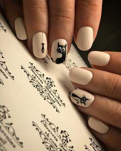Дизайн ногтей тут! ♥Фото ♥Видео ♥Уроки маникюра Cat Nail Designs, Pretty Nail Designs, Colorful Nail Designs, Cat Nail Art, Cat Nails, Pink Nails, Stylish Nails, Trendy Nails, Fall Gel Nails