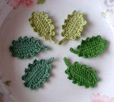 12 Crochet  Leaves In Green Combination YH-082-01 by YHcrochet