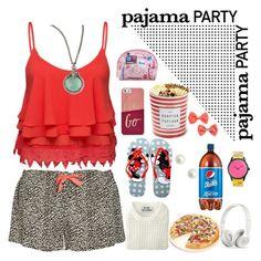 """late night pajama party"" by kriz-nambikatt on Polyvore featuring Volant, Calvin Klein Underwear, FOSSIL, Armenta, Disney, Acne Studios, Fox Run, Harajuku Lovers, H&M and women's clothing"