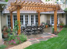 Another square beam pergola