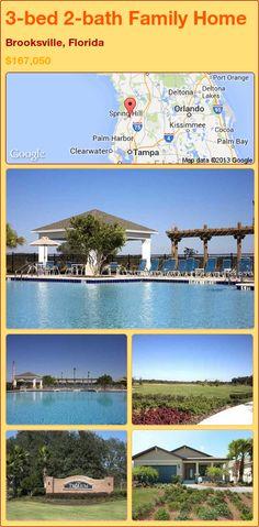 3-bed 2-bath Family Home in Brooksville, Florida ►$167,050 #PropertyForSale #RealEstate #Florida http://florida-magic.com/properties/91738-family-home-for-sale-in-brooksville-florida-with-3-bedroom-2-bathroom
