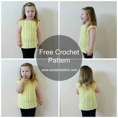Wool and Stitch: Mini Kids Summer Breeze Top - Free Crochet Pattern
