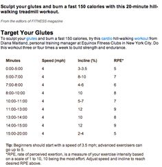 Glute working Treadmill workout