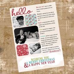 cross between a photo card and a Christmas letter Holiday Photo Cards, Christmas Cards, Christmas Letters, Christmas Crafts For Gifts, Christmas Holidays, Christmas Letter Template, Christmas Newsletter, Happy Unbirthday, Christmas Wonderland