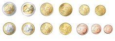 Monedas euro. Euro coins
