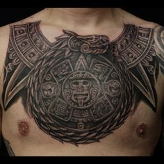 Tattoo by Goethe Mier at Prehispanic Images in Fontana, CA