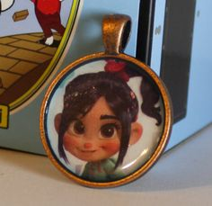 Wreck It Ralph Vanellope Metal Round Pendant by GreyGyrl on Etsy, $8.00