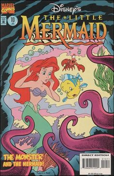 """The Sorrowful Sea Monster"", ""Poor Monster"", ""The Monster Rally"" Marvel Comic Book Disney's the Little Mermaid 10 A Vintage Disney Posters, Vintage Cartoons, Disney Movie Posters, Cartoon Posters, Funny Posters, Retro Wallpaper, Disney Wallpaper, Cartoon Wallpaper, Cute Poster"