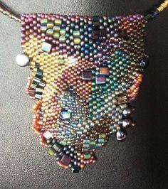 Sarah Brueck (AKA Three Cat Nite): Freeform Beaded Necklace #822