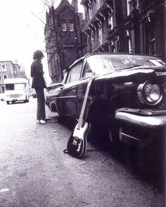 1969 Autumn Syd outside his Earls Ct flat - by Mick Rock