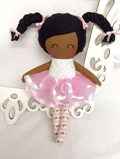 Ballerina Handmade Doll Rag Doll Fabric Dolls Soft Dolls Ballet Stuffed Dolls Fabric Cloth Doll Dancing Doll Tutu