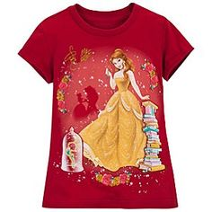 Gold Glitter Belle Tee for Girls Disney Girls, Baby Disney, Disney Belle, Disney Princess, Disney Pixar, Disney Outfits, Kids Outfits, Disney Clothes, New Style T Shirt