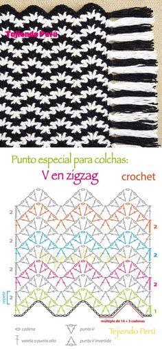 Creative Photo of Double Crochet Ripple Afghan Pattern Double Crochet Ripple Afghan Pattern Crochet Afghan Or Blanket Stitch Ripple V Stitch Pattern Or Chart Crochet Zig Zag, V Stitch Crochet, Crochet Ripple, Crochet Diagram, Crochet Chart, Crochet Motif, Double Crochet, Blanket Crochet, Ripple Afghan
