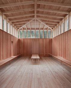 schneider & lengauer architects: cemetery + wake room hopfgarten