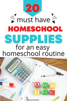 First time homsechooling? Here are twenty essential and must have supplies for a routine that you can do every day. Parenting Advice, Kids And Parenting, Moms Sleep, All About Mom, Homeschool Supplies, Mom Advice, First Time Moms, Frugal Tips, Work From Home Moms