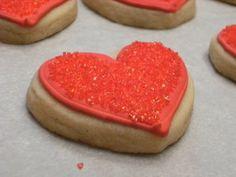 Sparkly Hearts Sugar Cookies #valentine