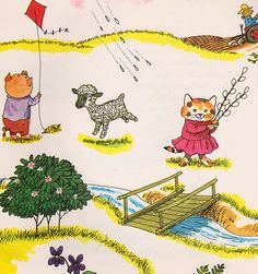 On the Farm - illustrated by Richard Scarry -- < found at ... http://www.pinterest.com/paminleland/richard-scarry/ >