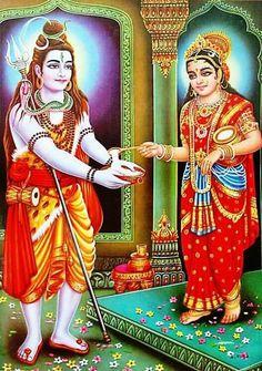 Shiva with maa Annapurna