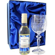 Personalised White Wine and Crystal Glass Set  from Personalised Gifts Shop - ONLY £27.95