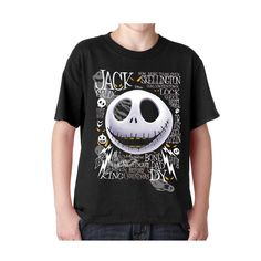 Boys' Clothing, Tops & Tees, Tees,Jack Skellington Tee Youth Unisex T-Shirt - Black - # # Boys Clothes Online, Kids Clothing, Neon Shorts, Shark Shirt, Exercise For Kids, Jack Skellington, Boys T Shirts, New Baby Products, Kids Outfits