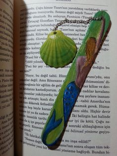 Mermaid bookmark, wooden bookmark, Hand-Painted Bookmark, gifts for readers, nautical bookmark, book accessory, express shipping by AxiKedi on Etsy