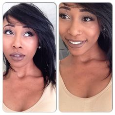 Natural fall makeup, NYX Maison, MAC; saddle, rice paper, and arena. Black natural hair!!