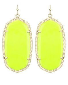 Danielle Earrings in Neon Yellow - Kendra Scott Jewelry.