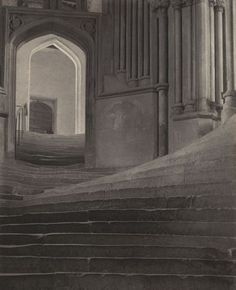 Frederick H. Evans (England, 'A Sea Of Steps - Wells Cathedral' England, Frederick frames it as a great wave that undulates into smaller waves moving towards the top. Steps to Chapter House. Magnificent in photography and in real life. Moma, History Of Photography, Art Photography, Photography Articles, Straight Photography, Philadelphia Museum Of Art, Stairway To Heaven, Stairways, Evans