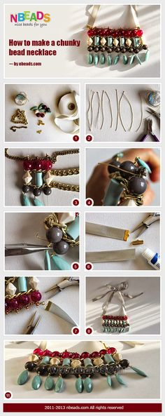 how to make a chunky bead necklace