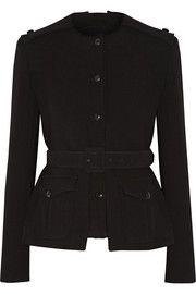 Belted stretch-wool jacket