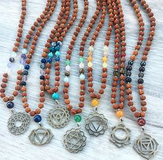 7 Chakra Mala Necklace Set Mixed Gemstoenes & by SaltAndMoon