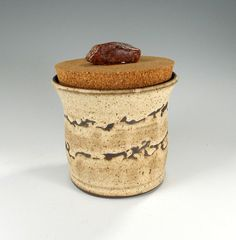 Kitchen canister storage jar pottery sugar by WillowTreePottery