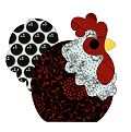 FatCat Patterns, lots of free chicken appliques. Would look great on scrappy nest.