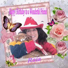 Birthday card for my wonderful Friend Raia