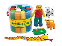 Amazon.com: Nonhardening Modeling Clay Bucket - Each: Toys & Games