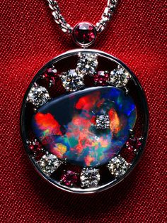 Black Opal Pendant...oh my goodness I love love love this!!!